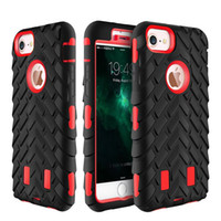 Wholesale Iphone Camo Dhl - Camo Heavy Duty Hybrid Defender Rugged Armor Tire Robot 2 in1 Dual Color Hard Shockproof Case Cover for iPhone 8 7 Plus 6S Free Shipping DHL