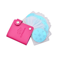 Wholesale stamps albums - Wholesale-24 Slots Leather Nail Stamp Template Holder Album Storage Nail Art Stamping Plate Case Bag Folder For Dia 5.6cm Stencil