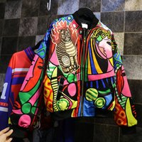 Wholesale Queen Pattern - Wholesale- 2016 new Korean queen characters printed sequined long sleeved jacket