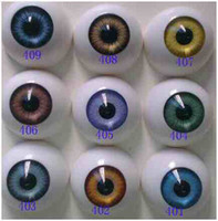 Wholesale toys doll head - 2017 Best selling Free shipping round shape lovely Fashion Doll eyes acrylic eyes bjd doll accesories reborn doll toys parts (8mm to 22mm)