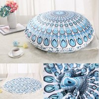 Wholesale Indian Sofa Covers - 16 Color Mandala Indian Ombre Pillow Case Hippie Boho Cushion Cover Pillow Cover Bohemian Pillowcase Vintage Sofa Car Decoration 75*75cm