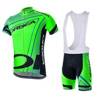 Brand New 19 cores Pro Team Orbea Men's Short Sleeve 100% Polyester Cycling Jersey Conjuntos Rápidos-Ciclo seco Vestuário Mountain Bicycle Wear