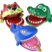 Wholesale Old Bit - Cool Large Bulldog Crocodile Shark Mouth Dentist Bite Finger Game Funny Novelty Gag Toy for Kids Children Play Funny Toys