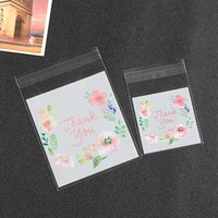 Wholesale Wedding Thank Gift Bags - 300pcs lot 4 Sizes Thank You Candy Cookie Bags Wedding Birthday Party Craft Self-adhesive Plastic Biscuit Packaging Gift Bag