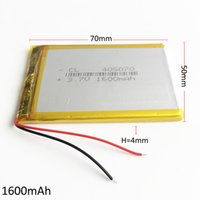 Wholesale li po cell - Model 405070 3.7V 1600mAh Rechargeable Battery Lithium Polymer Li-Po cell For Mp3 DVD PAD mobile phone GPS power bank Camera E-books recoder