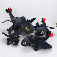 Wholesale Dragon Toothless Plush - 55cm 22cm 33cm 40cm movies plush toys How to Train Your Dragon 2 Movie Plush Toys Night Fury Toothless Soft Doll kids toys
