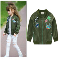 Wholesale Girl Army Jacket - ins Autumn girls long sleeved jacket army green jacket New Winter Kids Jackets Coats Fashion Casual Warm Baby Coats Outdoor