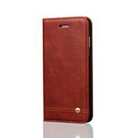 Wholesale Leather Magnetic Wallet - Wallet leather case for iphone cellphone case for iphone7 7plus 6 6s 6plus 6s plus for samsung s7 s7edge flip case with magnetic
