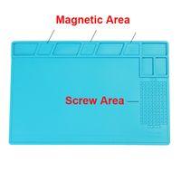 Wholesale Bga Repair - Magnetic Heat-resistant Silicone Pad Desk Mat Maintenance Platform Heat Insulation BGA Soldering Repair Station with 26cm Scale Ruler