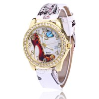 Wholesale Ladies Fashion Heels Wholesale - Free shipping wholesale Han edition fashionable ladies watch Ms hot style diamond-encrusted heels watches Fashion digital belt ladies watch