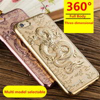 Wholesale Black Water Dragon - For iphone 7 case adn iphone 6 Mobile phone shell adn For oppo R9 +R9 plus Chinese dragon Mobile phone protective cover DHL Free Delivery