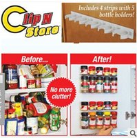Wholesale Plastic Shelf Clips - Clip N Store Storage Rack Simple Bottle Clip Seasoning Bottles Rack Shelf Kitchen Tools No More Clutter 4tf R