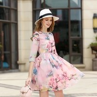 Wholesale Women Sexy Club Clothing - HIGH Quality Self portrait New Fashion 2017 Runway Clothing Women's Perspective Print Mini Dress Vintage Female vestido