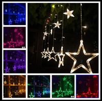 110V / 220V Led Strings Flash Star Vorhang Lichter Lampe Weihnachten Hochzeit Bar Shop Outdoor / Indoor Wasserdichte Home Decorations Lichter Lampe