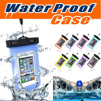 Wholesale Compass Cases - Waterproof Case PVC Universal Dry Bag Touch Screen Neck Pouch With Compass Bag For Diving Cover For iPhone X 8 7 Plus 6 6S Samsung S8