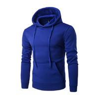 Wholesale fleece wholesaler - Winter High Quality Men Coat Hot Fashion Hoodie Casual Men Retro Long Sleeve Hooded Black Sweatshirt Tops Coat Outwear M-2XL