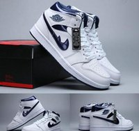 Wholesale I Clear - (With 3pairs laces)High Quality Retro 1 I High OG Metallic Navy Men Women Basketball Sport Sneakers Trainers Shoes