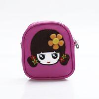 Wholesale Dora Children - High Quality PU Leather Children Kids Girls Mini Bag Cute Printing Zipper 2017 Waterproof Dora Small Backpack Mochila
