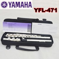 Wholesale flute 16 keys online - High Quality Brand New Flute Case Silver YFL Silver Plated Closed Holes C Key Flute With Case Accessories