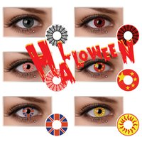 Comsmetic/Colored black web designs - Cobweb Design Crazy Lens Scary Halloween Contacts Color Contact Lens Red Web White Web