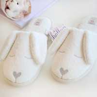 Wholesale Cashmere Dog - Wholesale-Snowflake cashmere long-eared dog indoor home slippers waterproof warm slippers women