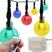 8 Modes Ball String Lights 20ft 30 LED Imperméable Fairy String Globe Lights Batterie pour le jardin, patio de fête de noel en plein air