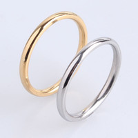 Wholesale Gold 2mm - 2mm gold silver Smooth 316L Stainless Steel wedding rings for women wholesale