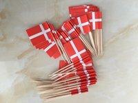 kek kekleri toptan satış-Mini Danimarka Krallığı Kağıt Gıda Alır Yemeği Kek Kürdan Cupcake Dekorasyon Meyve Kokteyl Çubukları Parti Malzemeleri