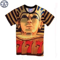 Wholesale Sell 3d Tshirt - Mr,BaoLong sell well !! 2017 new arrive funny 3D t shirt Pharaoh of Egypt printing men's tshirt summer short tops & tees DT49