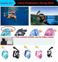 Wholesale Adult Diving Mask - 2017 New Underwater Diving Mask Snorkel Set Swimming Training Scuba full face snorkeling mask Anti Fog for adult kids teenager M943