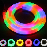 outdoor party places - New Arrival LED Neon Sign Flex Rope Light PVC LED Light Strips Indoor Outdoor LED Flex Tube Disco Bar Pub Christmas Party Decoration