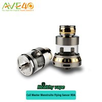 Wholesale Flying Tanks - Coil Master Monstruito Flying Sancer RDA Tank an Innovative RDA Design with a Glass Chamber DIY with Coil Master 314 Kit