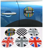 Wholesale Tank Stickers Car - 3D Car Styling Fuel Tank Sticker Gas Tank Cap Emblem Jack Union Racing Checker Universal for MINI Cooper S One Clubman Countryman Paceman