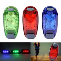 Outdoor Fitness LED Lumières de sécurité Clip sur Strobe / Running / Cycling / Dog Collar Lights 3 Modes Bike Tail Lights, Warning Light DHL Free OTH333