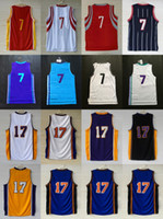 Wholesale Embroidery Sports Jerseys - 7 Jeremy Lin 2017 new arrived Mens Womens Kids high Quanlity Basketball sport Jerseys embroidery with player name logos Free Shipping XS-3XL