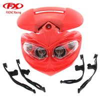 Wholesale Streetfighter Bike - FX Universal Motorcycle Light Headlight Headlamp with LED Vision for SportsBike Dirtbike Streetfighter Naked Bike Headlight