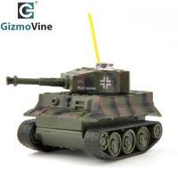 Wholesale Rc Tiger - Wholesale- GizmoVine RC Tank 49MHz Remote Control Toys Battle RC Tanks LED Light Wireless RC Mini Tiger Tank Toys for Kids Children Gift