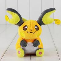 Wholesale Pokemon Raichu - EMS 15cm Anime Poke Plush Toy Raichu Stuffed Animal Toys Raichu Plush Toy Soft Baby Toy Free Shipping