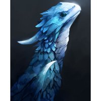 Blue Dragon 100% Full Drill DIY Diamante Pintura Bordado 5D Cruz Stitch Cristal Cuadrado Dormitorio Dormitorio Decoración Pared Decoración Artesanía Regalo
