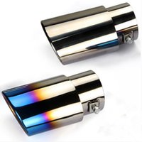 Wholesale General car muffler stainless steel Tail throat decoration grilled blue Tail throat stainless steel exhaust pipe