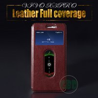 Wholesale Bbk Vivo - Phone cases for VIVO X5PRO 5.2 inch Luxury PU Leather BBK X5 Daul View Windows Caller ID Display All cover Touchable Horizontal Flip Holder