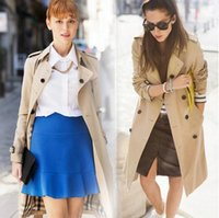 Wholesale Women s Classic Trench Coat Double Breasted Office Lady Outerwear Business Waterproof Raincoat fashion clothing DHL