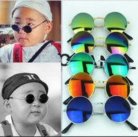 Wholesale Eyeglasses Frame Kids - Kids Frog Mirror Sunglasses Baby Beach Eyewear Boys Fashion Sunshades Glasses Summer UV Round Eyeglasses Street Travel Sun Glasses B2017