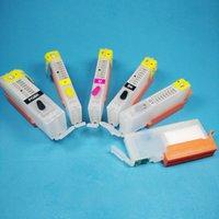 Wholesale Printer Cartridge Refills - Empty Refill ink compatible for Canon PGI 550 CLI 551 MG6350 MG7150 MG7550 IP8750 printer with ARC chips refillable ink cartridges
