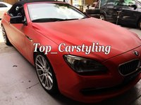 Wholesale red chrome vinyl - Brushed Chrome Vinyl WRAP CAR COVERING FILM With Air Release Whole car wrapping many color available red   blue   green  pink 1.52x20m Roll