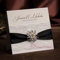 Wholesale Personalised Invitations - Wholesale- Lace Wedding Invitations, Free Personalised Printing Wedding Invitation Card , NK-254, with RSVP and envelope , free shipping