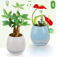 Wholesale Lead Planters - Creatives Touch Wireless Bluetooth Flowerpot Mini Subwoofer Speaker with LED Multiple Colors Office Decor Planter Colorful Light TOy