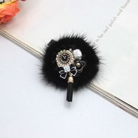 Wholesale Scarves Round Women - Hot Sale New Black Chuzzle Brooches Pin Women Gifts Tassels Pins Alloy Jewelry Clothing Gifts Girls Bijoux Scarf Free Shipping