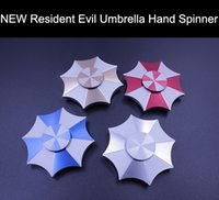 Wholesale Toy Umbrella For Kids - Newest 5 Colors Resident Evil Protect umbrella Protection Finger Spinner Fidget Toy metal EDC Hand Spinner For Autism and ADHD 3 minutes