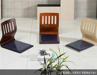 Wholesale Zaisu Seating - Smart Folding Wood Tatami Ergonomic Comfort Legless Zaisu Chair Compact Seat Japan Korea Stype Blue Cloth Cushion Base Wooden black walnut